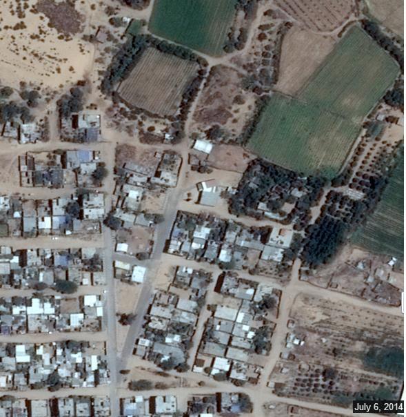 تصاویر ماهواره ای از غزه