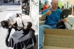 آرایشگری که برای فقرا مجانی کار میکند+عکس