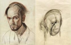 نقاشیهایی که یک آلزایمری از چهره خود کشید!عکس