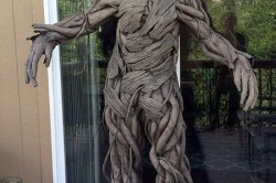 لباسی با طرح ریشه درخت+عکس