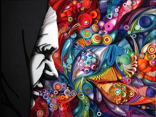 کشیدن نقاشی با کاغذ