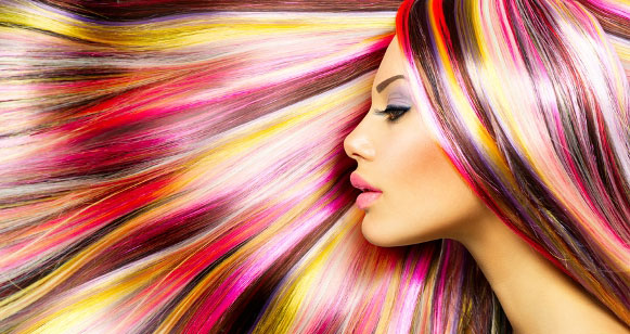 راهنمای رنگ کردن موی سر,هایلایت رنگینکمانی
