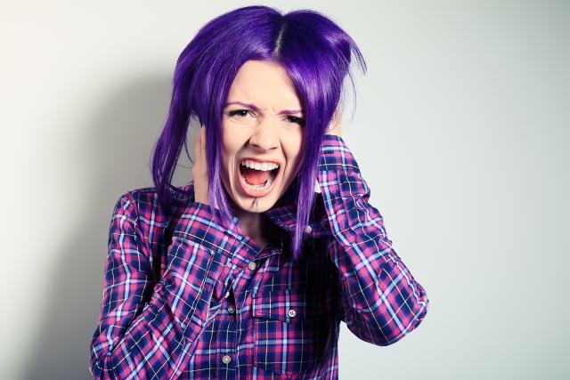 راهنمای رنگ کردن موی سر,رنگ موی بنفش