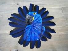 نقاشیهای شگفتانگیز روی پر پرندگان+عکس