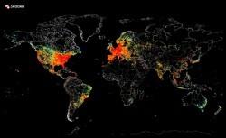 نقشه ترافیک اینترنتی منتشر شد/ پرترافیکترین نقاط دنیا کجا هستند