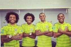 شباهت جالب و خنده دار در تیم ملی برزیل+عکس