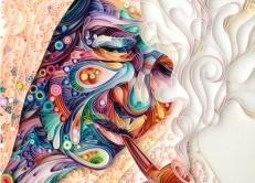 نقاشیهای شگفت انگیز با کاغذ رنگی+عکس