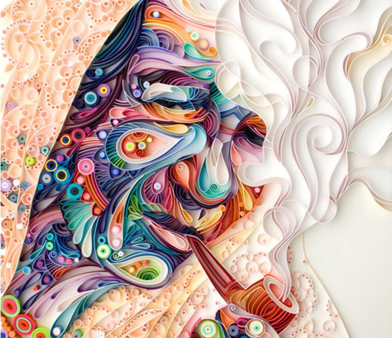 هنرنمایی با کاغذ رنگی