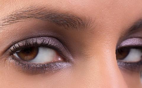 سایه متناسب با رنگ چشم,چشم قهوه ای