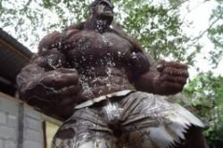 """مجسمه """"هالک"""" از جنس پیچ و مهره +عکس"""