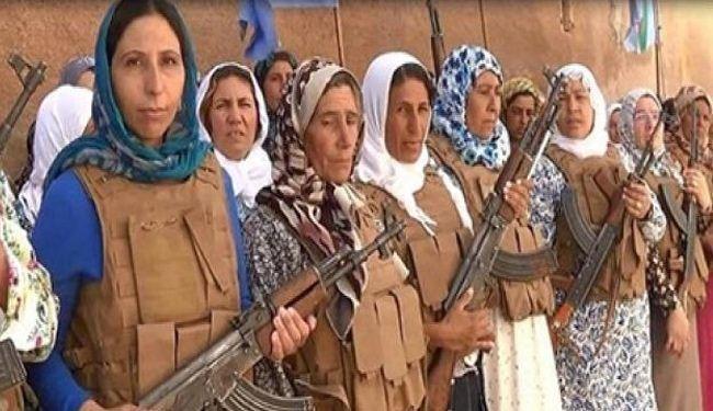 نبرد زنان کوبانی با داعش + عکس