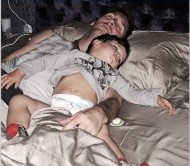 """خواب رویایی """"مسی"""" در کنار پسرش+عکس"""