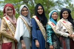مسابقه متفاوت ملکه زیبایی در اندونزی + عکس