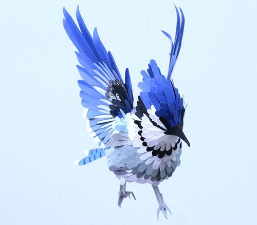 herrera01 تصاویر دیدنی از پرنده های کاغذی
