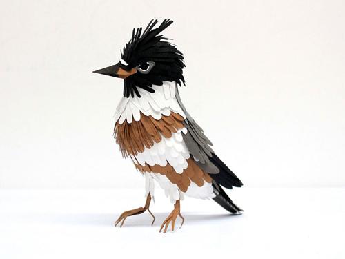 herrera03 تصاویر دیدنی از پرنده های کاغذی