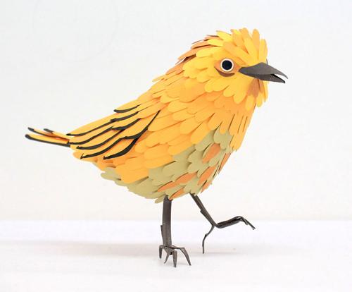 herrera05 تصاویر دیدنی از پرنده های کاغذی
