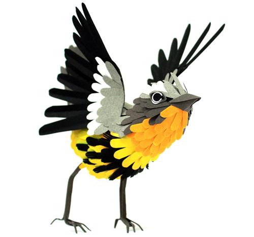 herrera06v2 تصاویر دیدنی از پرنده های کاغذی