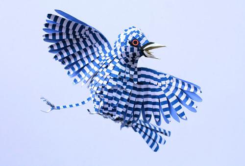 herrera12 تصاویر دیدنی از پرنده های کاغذی