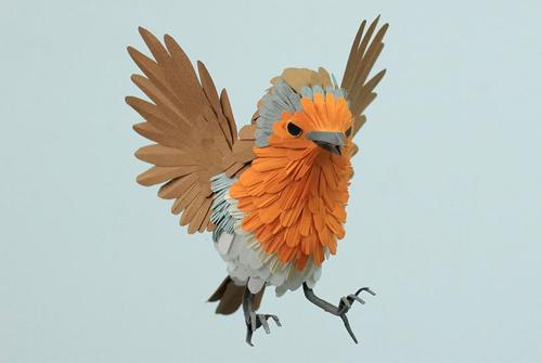 herrera13 تصاویر دیدنی از پرنده های کاغذی