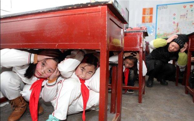 چین، مانور زلزله