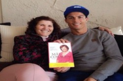 کریستیانو رونالدو در کنار مادرش+عکس