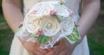 مدل دسته گل پارچهای عروس