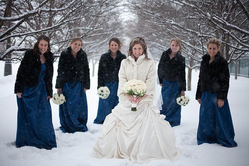 لباس عروسی در زمستون