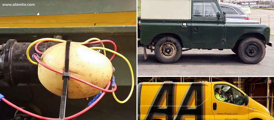 تعمیر خودرو با سیب زمینی