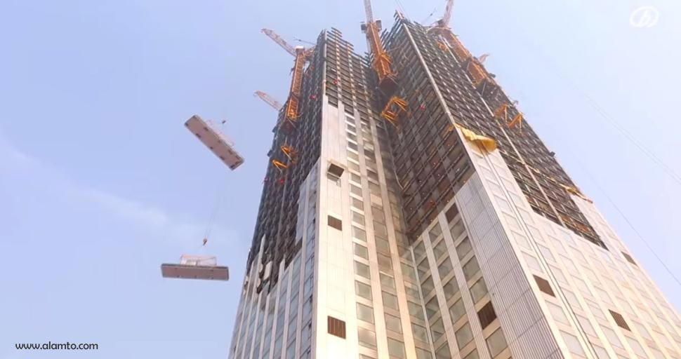 ساخت سریعترین برج جهان در ۱۹ روز