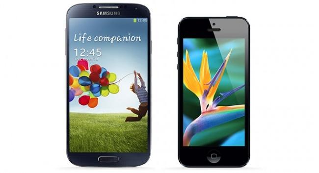 پرفروش ترین گوشی های دنیا,galaxy-s4-vs-iphone-5-640x353