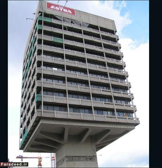 ساختمانهایی که به جاذبه اعتقاد ندارند!