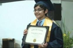 نابغه یازده ساله آمریکایی مدرک دانشگاهی گرفت+عکس