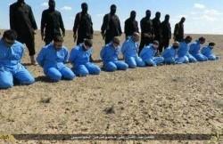رنگ اعدام داعش آبی شد+عکس