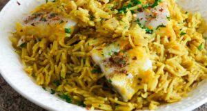 طرز تهیه خوراک ماهی عربی kabsa