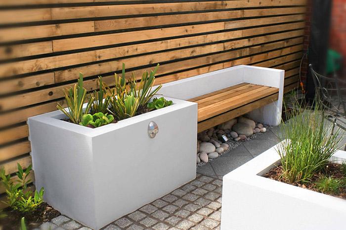 for Contemporary garden designs for small gardens