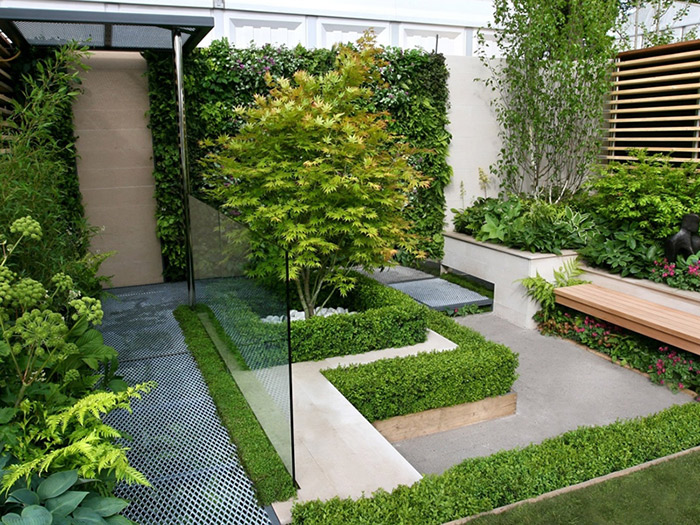 طراحی فضای سبز و باغچه حیاط منزل