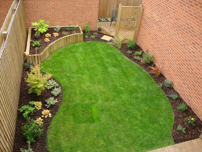 for Small rectangular garden ideas