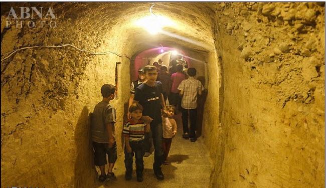 شهربازی زیر زمینی در سوریه + عکس