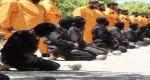 اعدام داعشیها توسط گروه مسلح جیش الاسلام