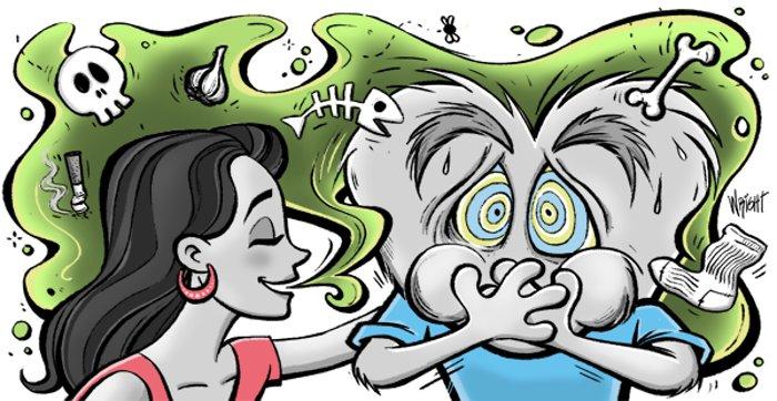 علت عدم تشخیص بوی بد دهان توسط خود فرد چیست؟