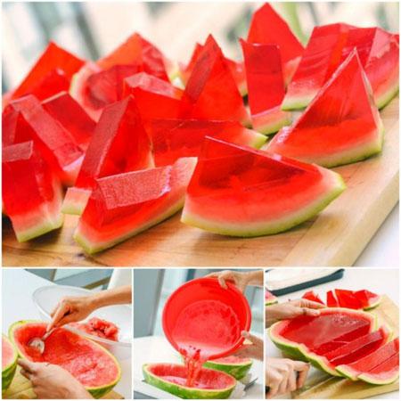 مدل تزیین ژله در پوست میوه, تصاویر تزیین ژله در پوست میوه