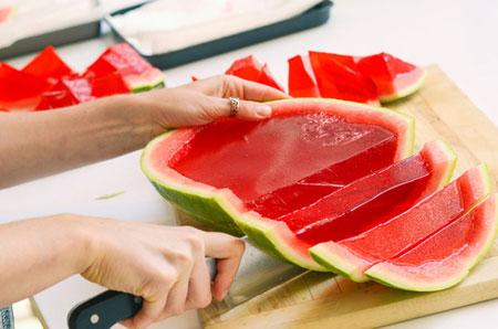 تصاویر تزیین ژله در پوست میوه,تزیین ژله در پوست میوه