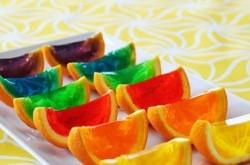 تزیین ژله با طعم میوه طبیعی