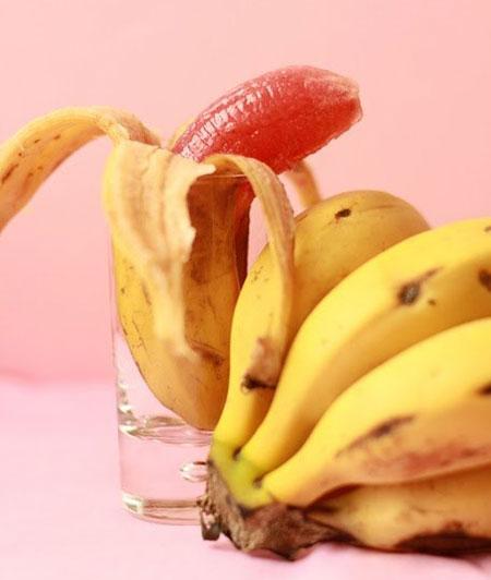 مدل تزیین ژله در پوست موز،تزیین ژله در پوست میوه