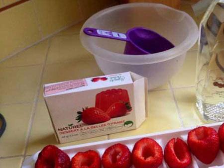 تزیین ژله در پوست میوه,مدل تزیین ژله در پوست میوه