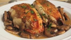 طرز تهیه مرغ با قارچ