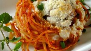 طرز تهیه اسپاگتی و کوفته مافین