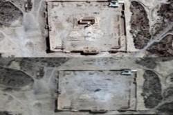 تصویر ماهواره ای از جنایت جنگی داعش