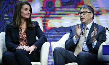 Bill and Melinda Gates speak at Davos