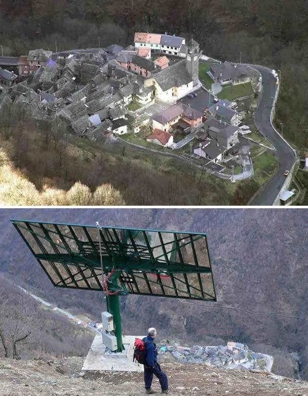 روستایی که خورشید خودش را دارد!